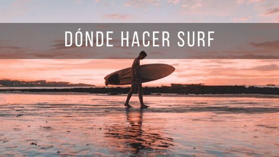 Los lugares más recomendados para hacer surf en Costa Rica.