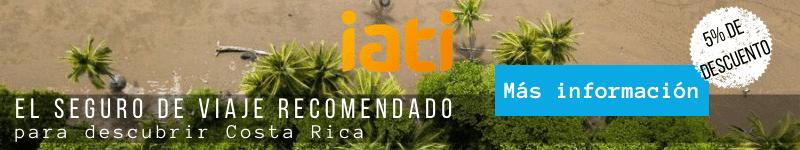 Iati es el mejor seguro de viaje para ir a Costa Rica.