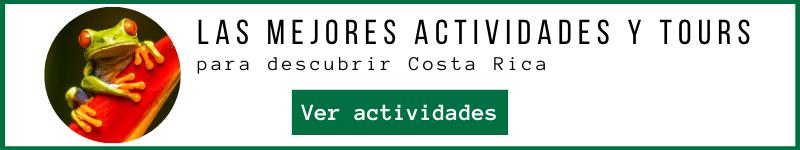 Actividades y tours recomendados para descubrir Costa Rica.