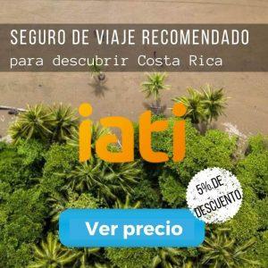 Seguro de viaje recomendado para ir a Costa Rica.