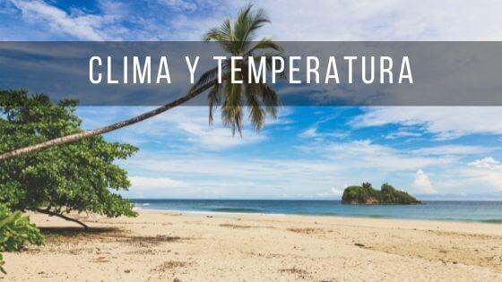 Playa de Costa Rica en un día con buen tiempo y clima agradable